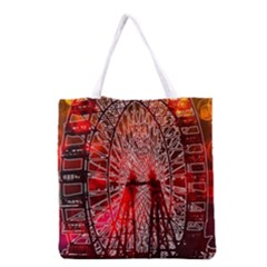 Vintage 1893 Chicago Worlds Fair Ferris Wheel Grocery Tote Bag