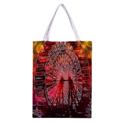 Vintage 1893 Chicago Worlds Fair Ferris Wheel Classic Tote Bag