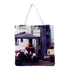 Vintage Paris Cafe Grocery Tote Bag