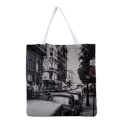 Vintage Paris Street Grocery Tote Bag
