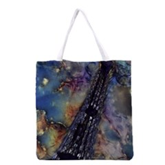 Vintage Eiffel Tower Abstract Grocery Tote Bag