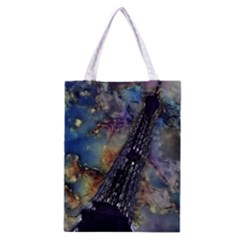 Vintage Eiffel Tower Abstract Classic Tote Bag