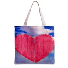 Pop Art Style Love Concept Grocery Tote Bag