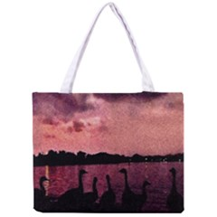 7 Geese At Sunset Tiny Tote Bag