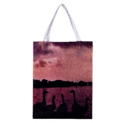 7 Geese At Sunset Classic Tote Bag