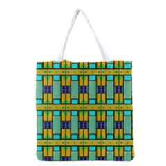Different Shapes Pattern Grocery Tote Bag