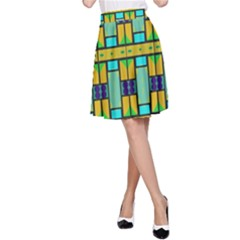 Different shapes pattern A-line Skirt