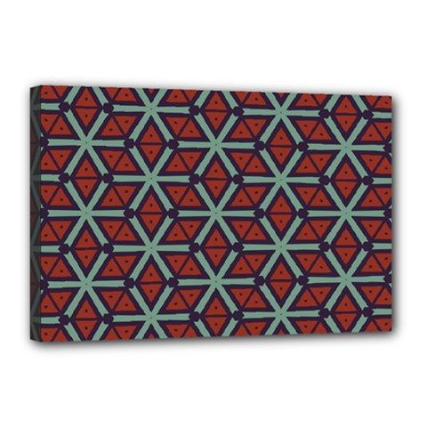 Cubes Pattern Abstract Design Canvas 18  X 12  (stretched)