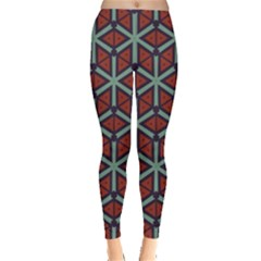 Cubes Pattern Abstract Design Leggings