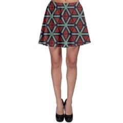 Cubes pattern abstract design Skater Skirt