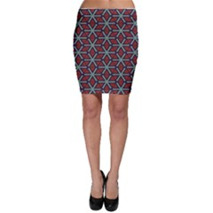Cubes pattern abstract design Bodycon Skirt