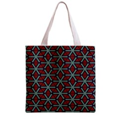 Cubes pattern abstract design Grocery Tote Bag