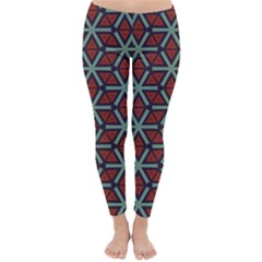 Cubes Pattern Abstract Design Winter Leggings