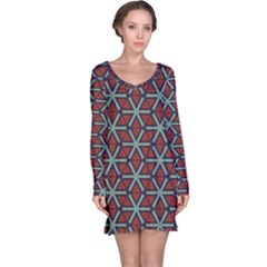 Cubes pattern abstract design nightdress