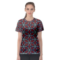 Cubes pattern abstract design Women s Sport Mesh Tee