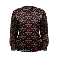 Cubes Pattern Abstract Design Sweatshirt
