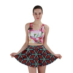 Cubes Pattern Abstract Design Mini Skirt