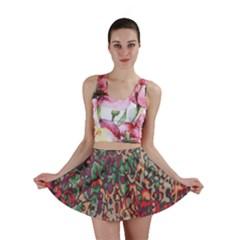 Color Mix Mini Skirt