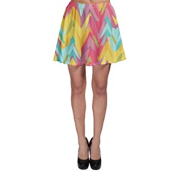 Paint strokes abstract design Skater Skirt