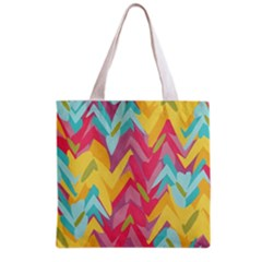 Paint Strokes Abstract Design Grocery Tote Bag