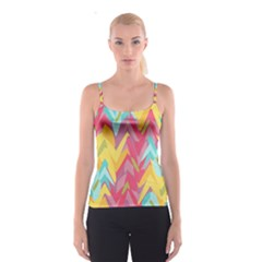 Paint Strokes Abstract Design Spaghetti Strap Top