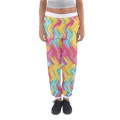 Paint Strokes Abstract Design Women s Jogger Sweatpants
