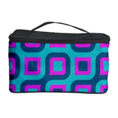 Blue purple squares pattern Cosmetic Storage Case