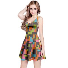 Colorful pixels Sleeveless Dress