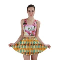 Shredded abstract background Mini Skirt
