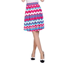 Waves pattern A-Line Skirt