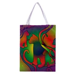Rainbow Purple Cats Classic Tote Bag