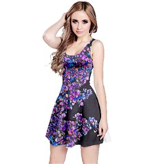 Abstract Lilacs Sleeveless Dress