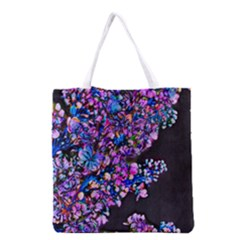 Abstract Lilacs Grocery Tote Bag