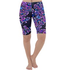 Abstract Lilacs Cropped Leggings