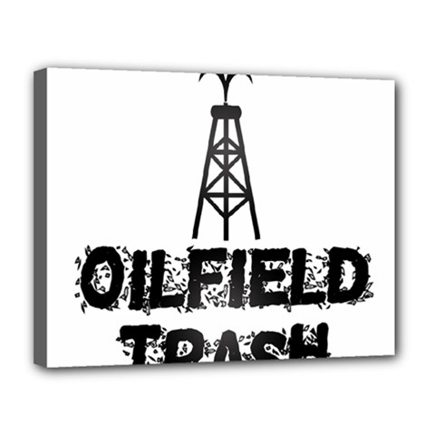 Oilfield Trash Canvas 14  X 11  (framed)