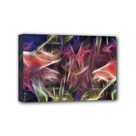 Abstract Of A Cold Sunset Mini Canvas 6  X 4  (framed)