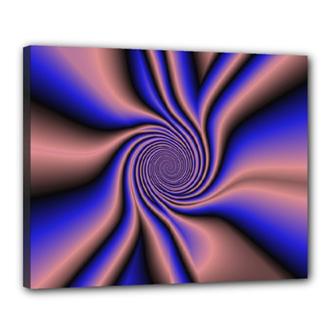 Purple Blue Swirl Canvas 20  X 16  (stretched)