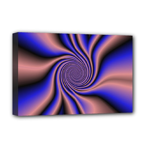 Purple Blue Swirl Deluxe Canvas 18  X 12  (stretched)