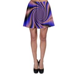 Purple blue swirl Skater Skirt