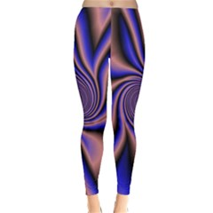 Purple blue swirl Winter Leggings