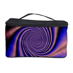Purple Blue Swirl Cosmetic Storage Case