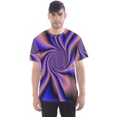 Purple blue swirl Men s Sport Mesh Tee