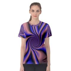 Purple Blue Swirl Women s Sport Mesh Tee