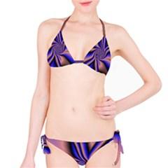 Purple Blue Swirl Bikini Set