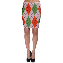 Argyle pattern abstract design Bodycon Skirt