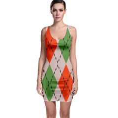 Argyle pattern abstract design Bodycon Dress
