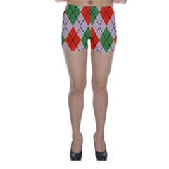 Argyle pattern abstract design Skinny Shorts