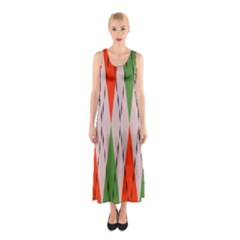 Argyle pattern abstract design Full Print Maxi Dress
