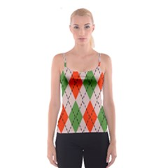 Argyle pattern abstract design Spaghetti Strap Top