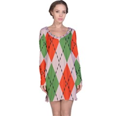 Argyle Pattern Abstract Design Nightdress